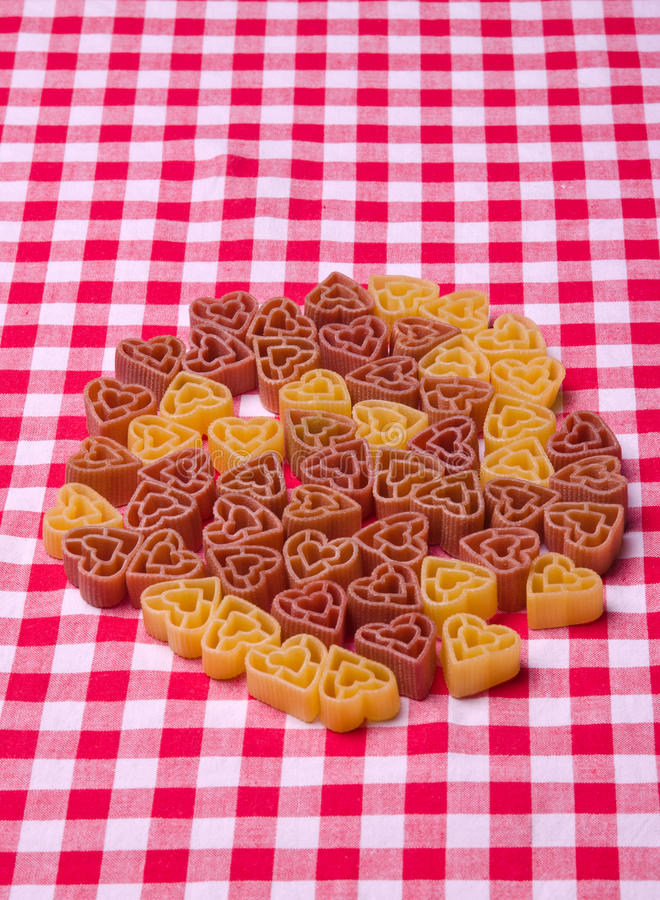 Heart shape pasta royalty free stock images