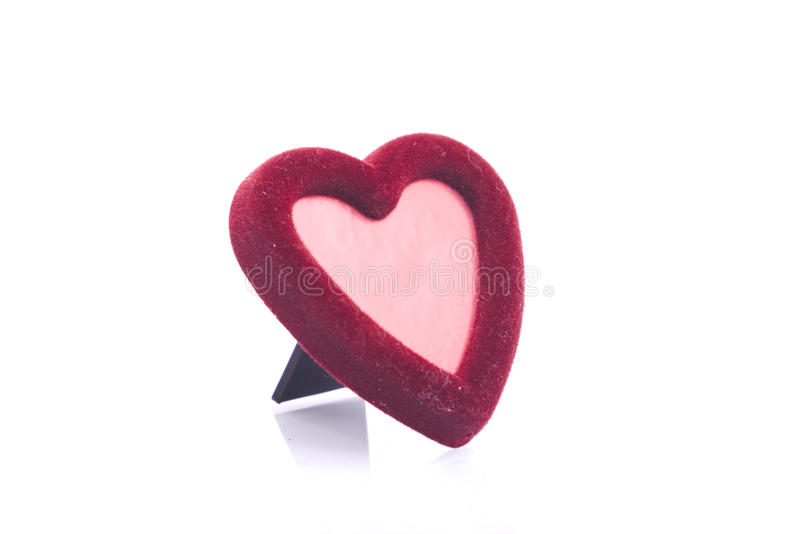 Heart shape photo frame royalty free stock photo