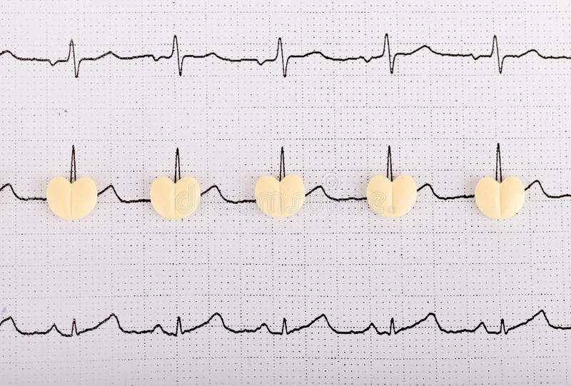 Heart shape pills royalty free stock photography