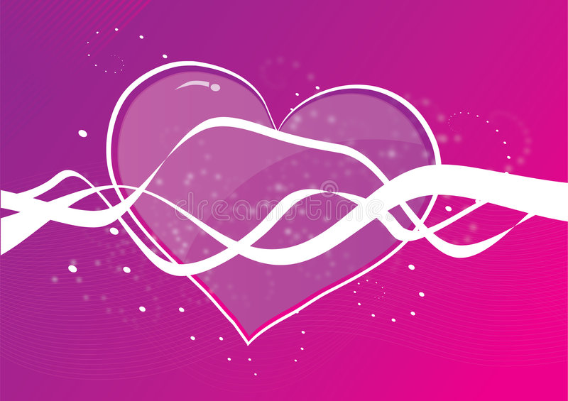 Heart Shape On Purple Background Stock Photography