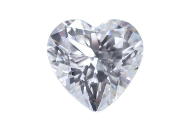Heart shape real gemstone jewelry diamond isolated with clipping path. Heart shape real gemstone jewelry diamond isolated on white background with clipping path stock photo