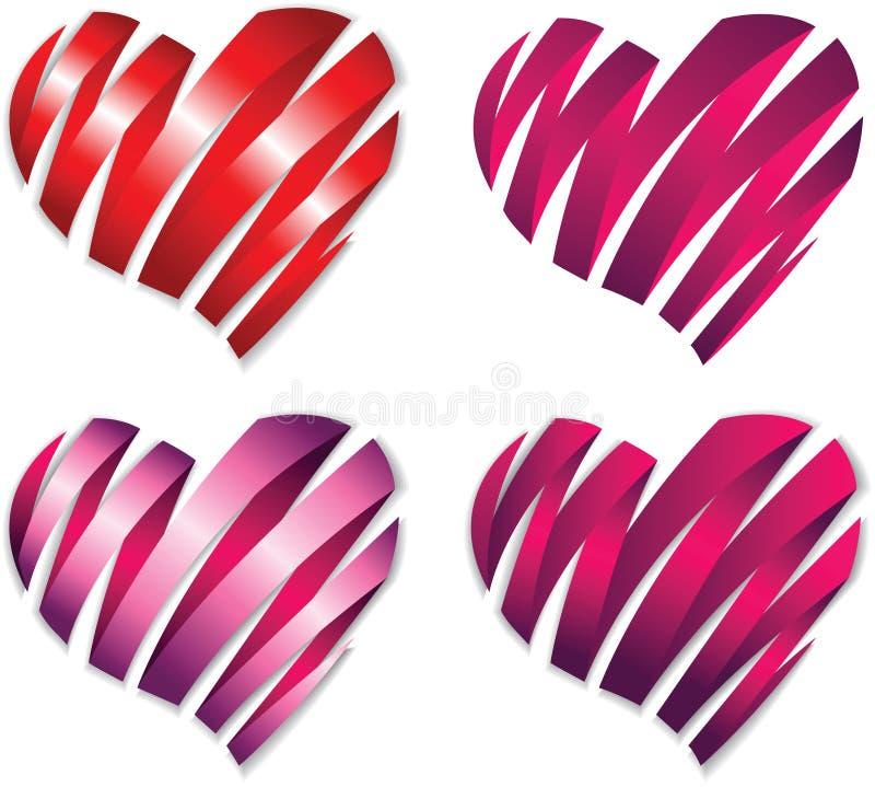 Heart Shape Ribbon Royalty Free Stock Image