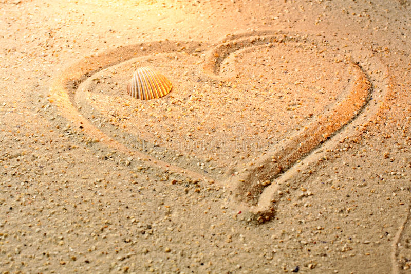 Download Heart shape in sand stock image. Image of togetherness - 22541303