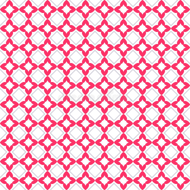 Heart shape seamless pattern. Pink color. Endless texture can be used for printing onto fabric and paper or scrap booking. Valentines day background for royalty free illustration
