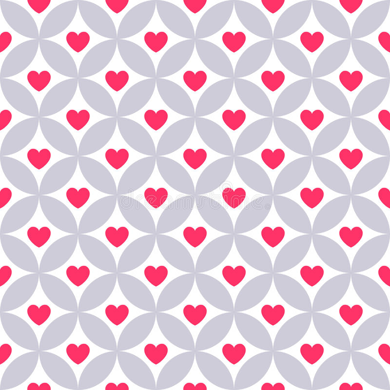 Heart shape seamless pattern. Pink color. Endless texture can be used for printing onto fabric and paper or scrap booking. Valentines day background for vector illustration