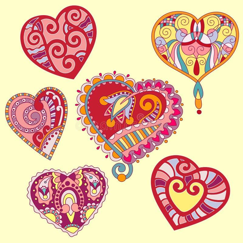 Heart shape set. For your design valentines card