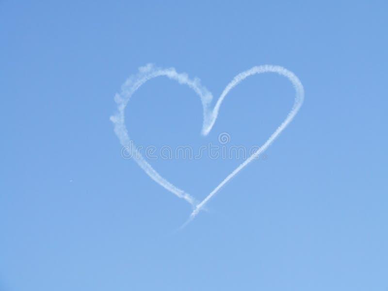 Heart Shape Sky Writing stock image