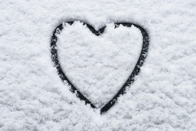 Heart Shape In Snow On Car Window Stock Image Image Of Heart