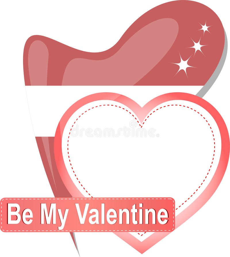 Download Heart Shape With Text Be My Valentine. Vector Stock Vector - Image: 22729049