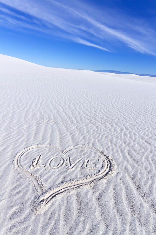 Download Heart Shape on White Sands stock image. Image of love - 28226677