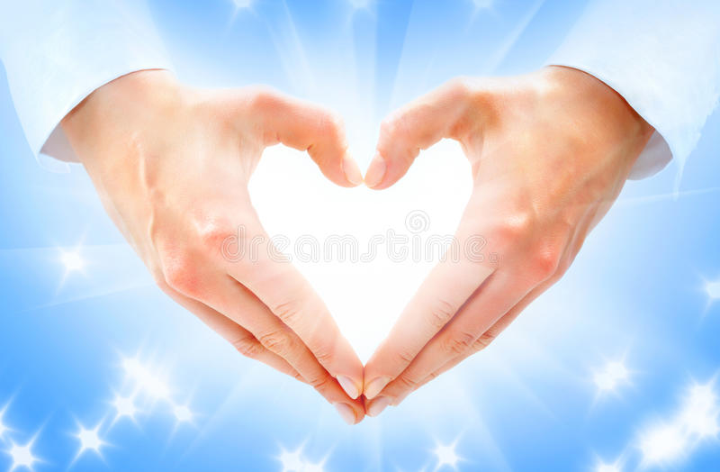 Heart-shaped royalty free stock photography
