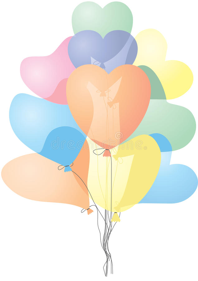 Download Heart shaped balloons stock vector. Image of greeting - 12652458