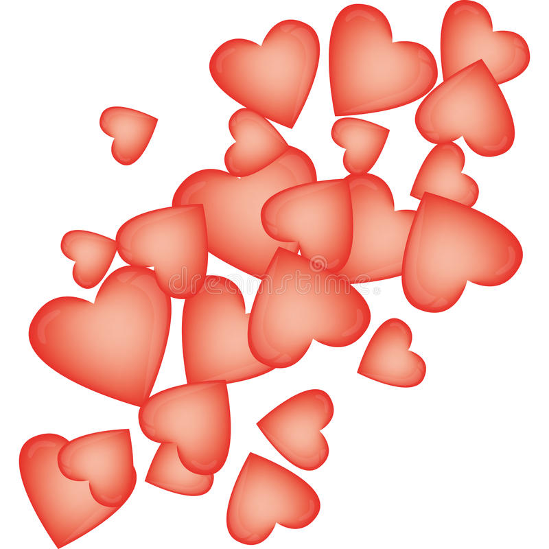 Download Heart-shaped Balloons For Valentine's Day Stock Illustration - Illustration: 17908048