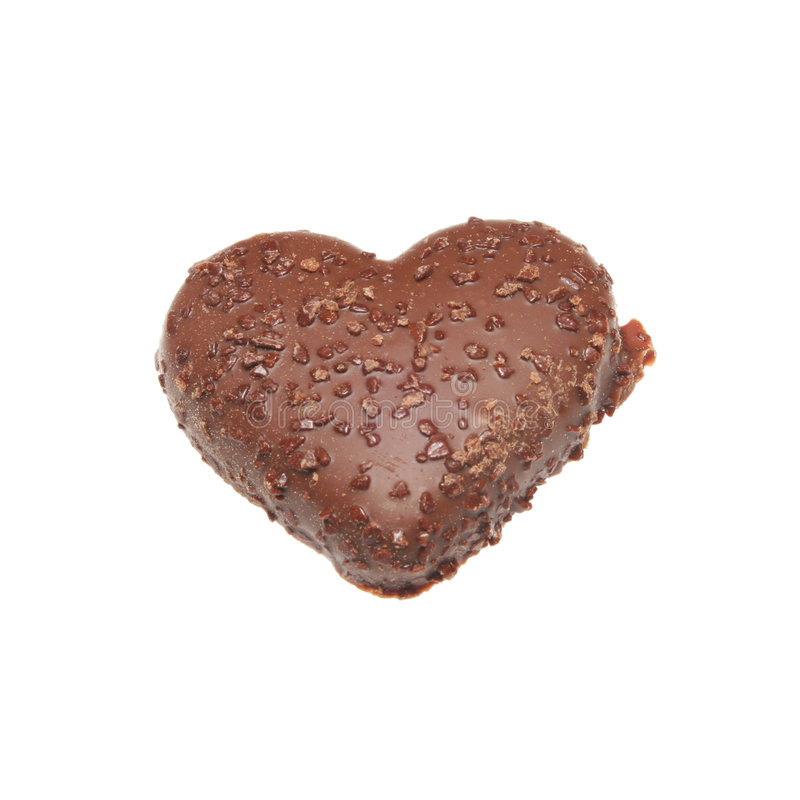 Heart Shaped Biscuit Stock Photo