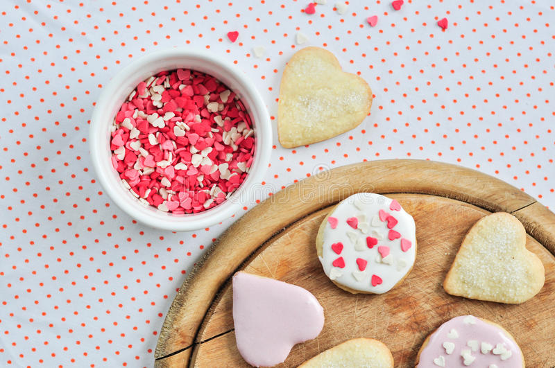 Download Heart-shaped biscuits stock image. Image of sugar, snack - 22405189