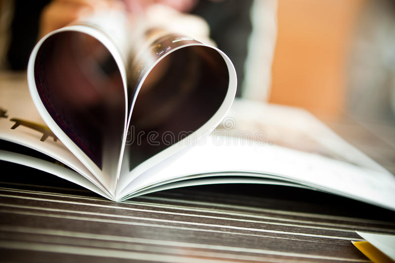 Heart Shaped Book. Photo of Heart Shaped Book