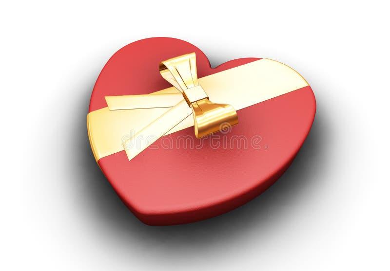 Heart shaped box stock photos