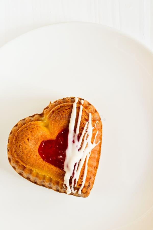 Heart-shaped cake royalty free stock photo