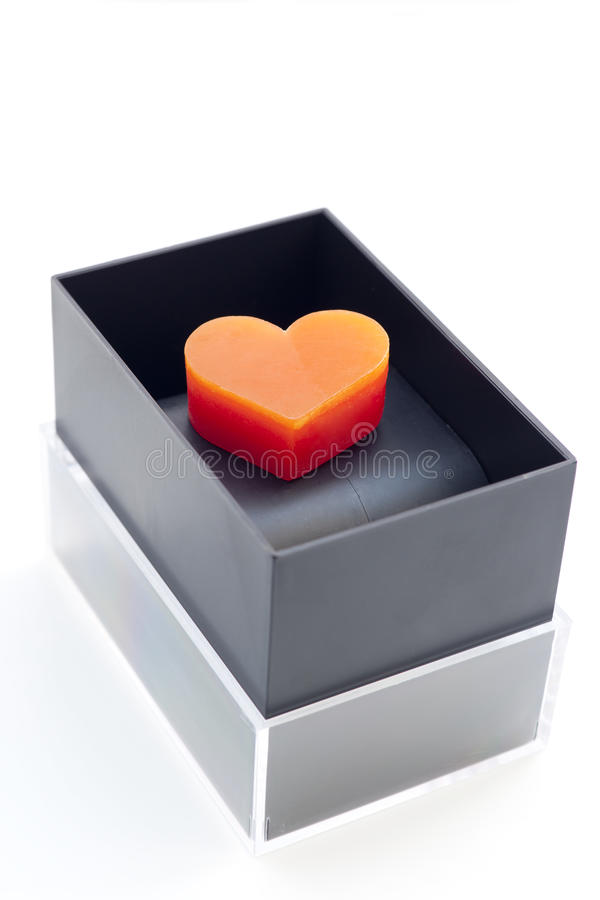 Download Heart-shaped Candles In Box Stock Photo - Image: 24865734