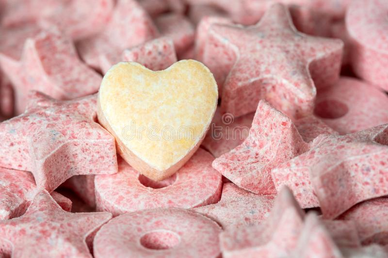 Heart shaped candy royalty free stock image