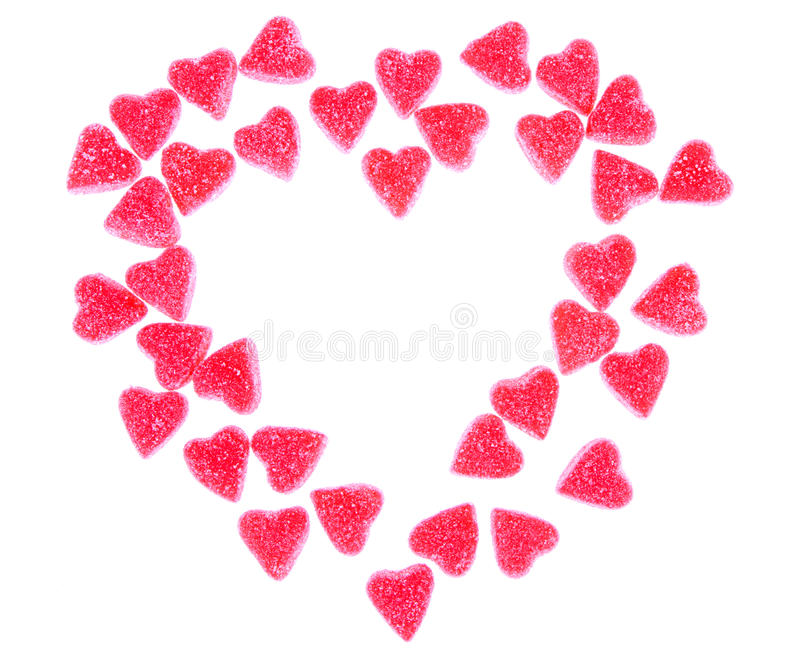Heart shaped candy in shape of heart royalty free stock image