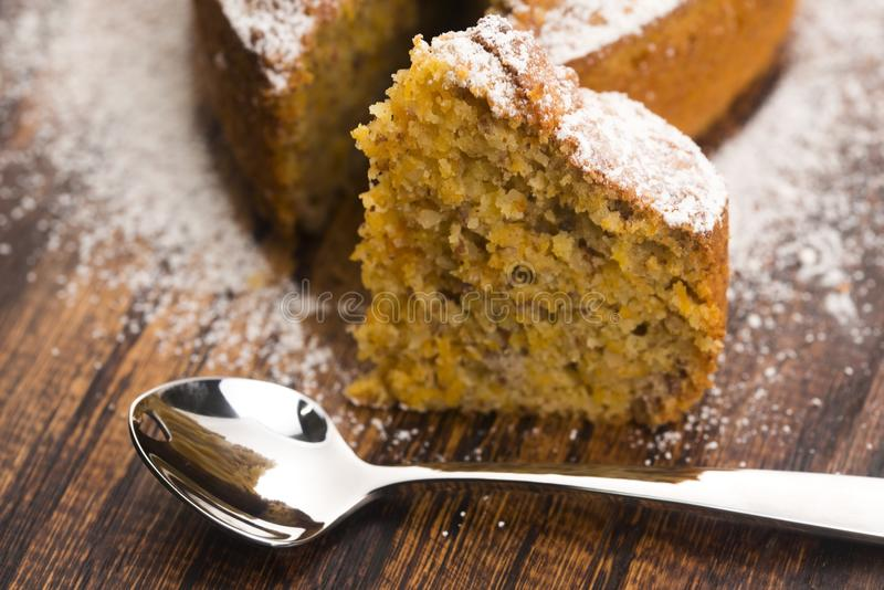 Carrot Cake. Delicious, food. royalty free stock photo