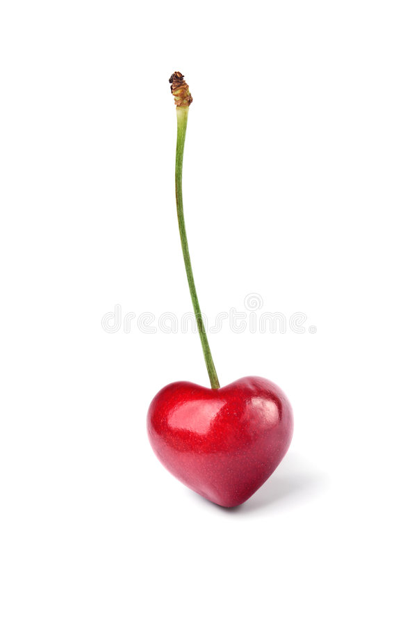 Download Heart-shaped cherry stock illustration. Image of decoration - 5623495