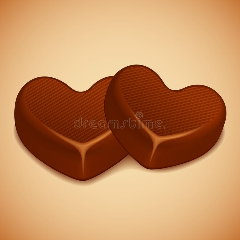 Download Heart Shaped Chocolate stock vector. Image of delicacy - 22984435