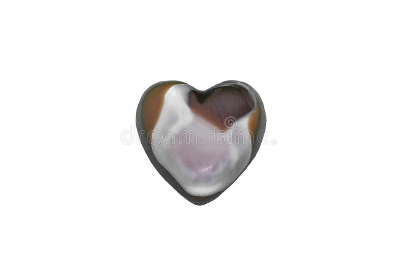 Heart shaped chocolate candy isolated on white. View of Heart shaped chocolate candy isolated on white stock image