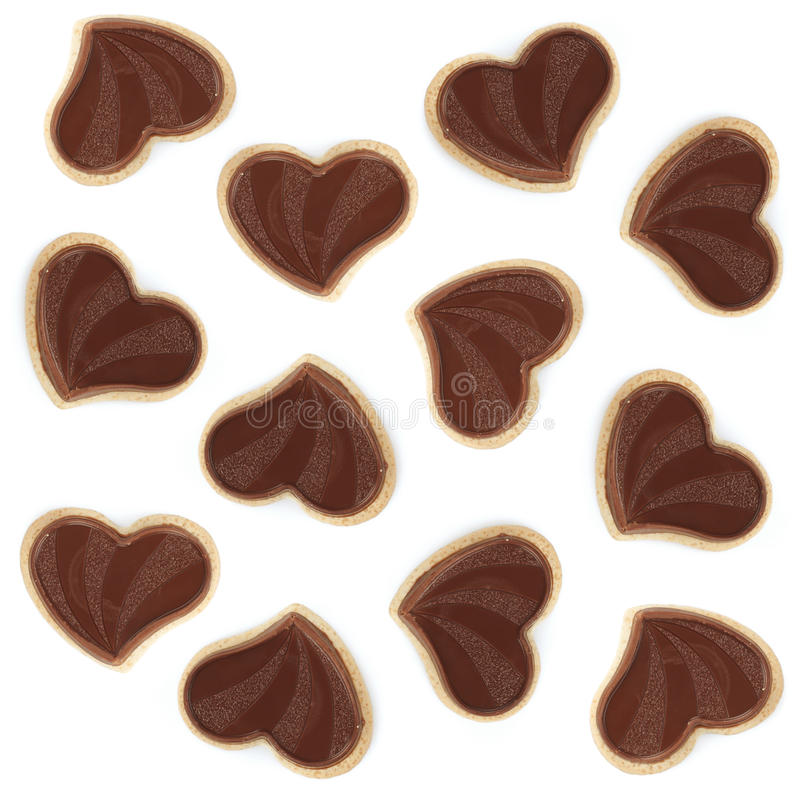 Download Heart Shaped Chocolate Cookies Stock Photo - Image: 29093688