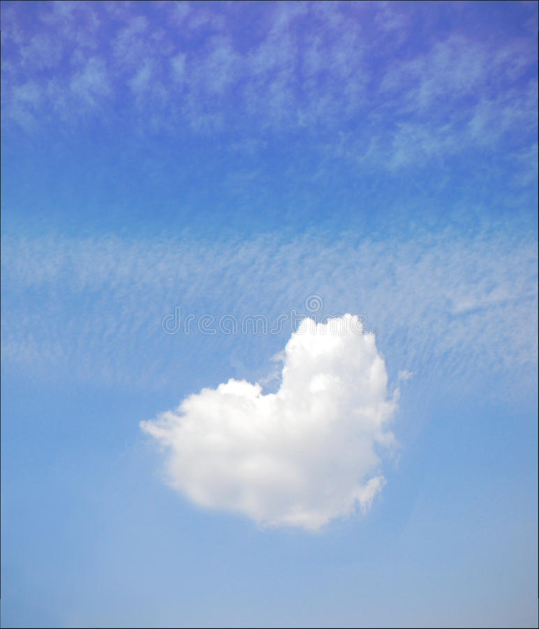 Download Heart shaped cloud stock image. Image of park, happiness - 18140629