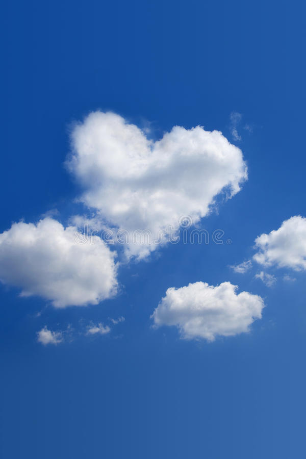 Heart-shaped cloud royalty free stock image