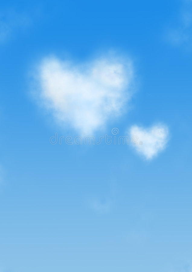 Free Heart Shaped Cloud Royalty Free Stock Images - 3244959