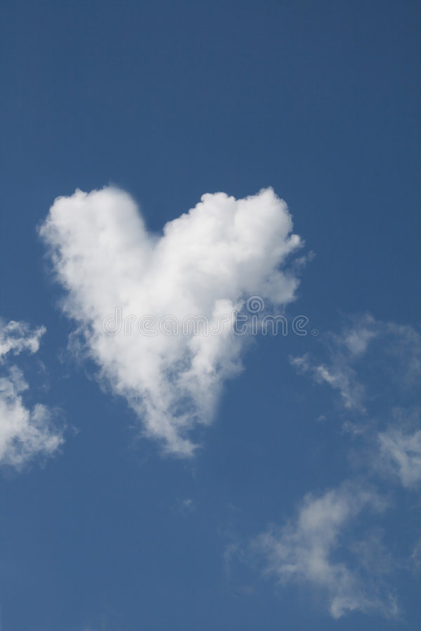 Download Heart Shaped Cloud stock image. Image of mark, love, sign - 7432113