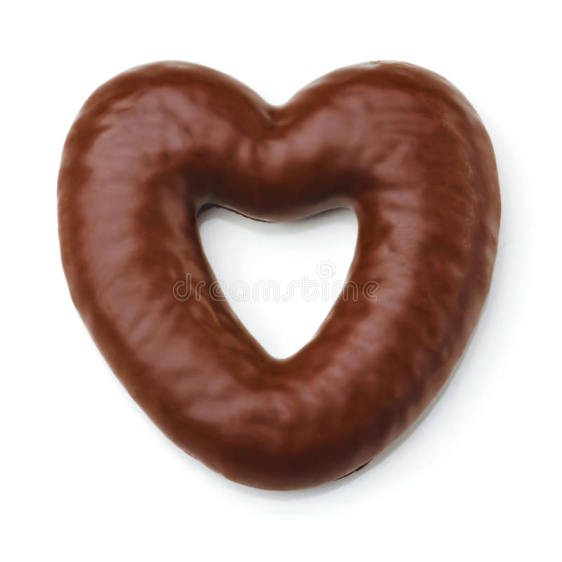 Heart shaped cookie. royalty free stock images