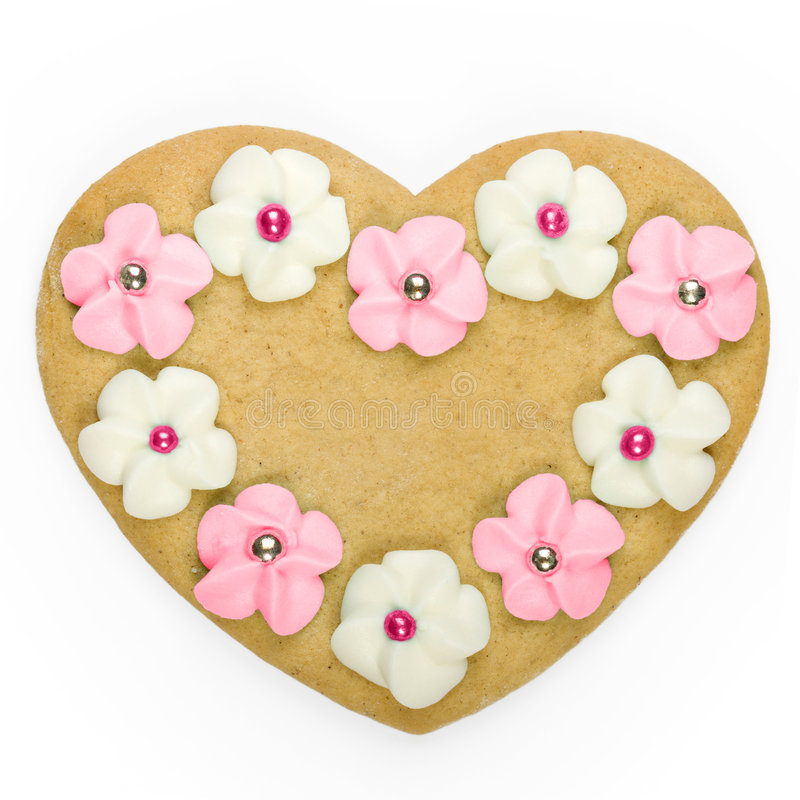 Download Heart shaped cookie stock photo. Image of sweet, background - 7647670