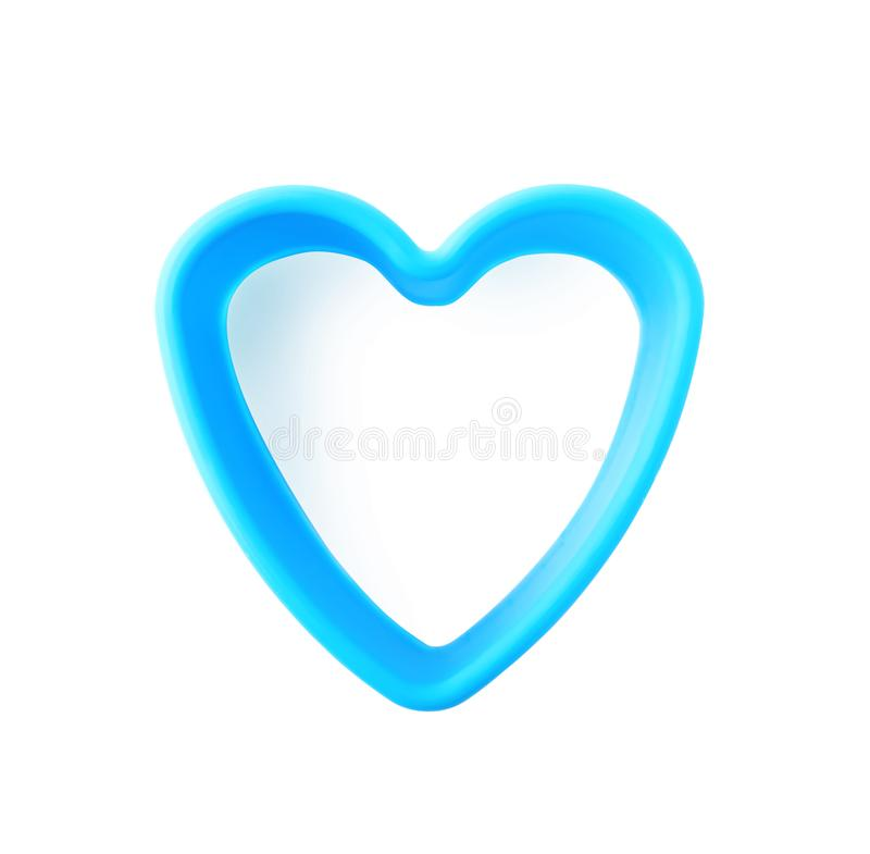 Heart shaped cookie cutter on white background stock image