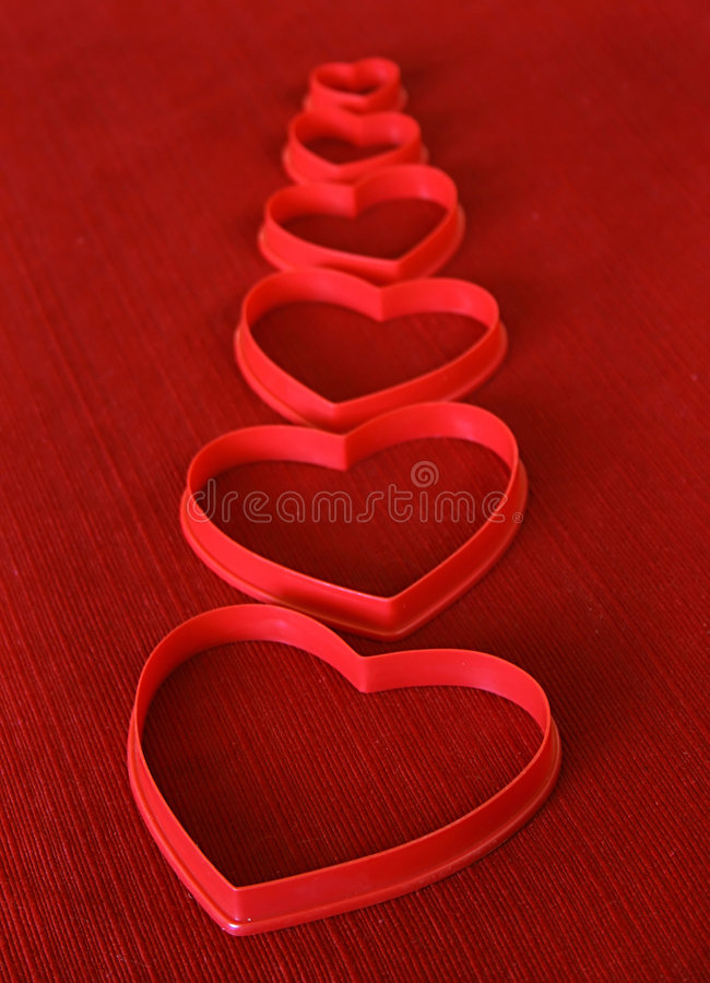 Heart Shaped Cookie Cutters Stock Photography