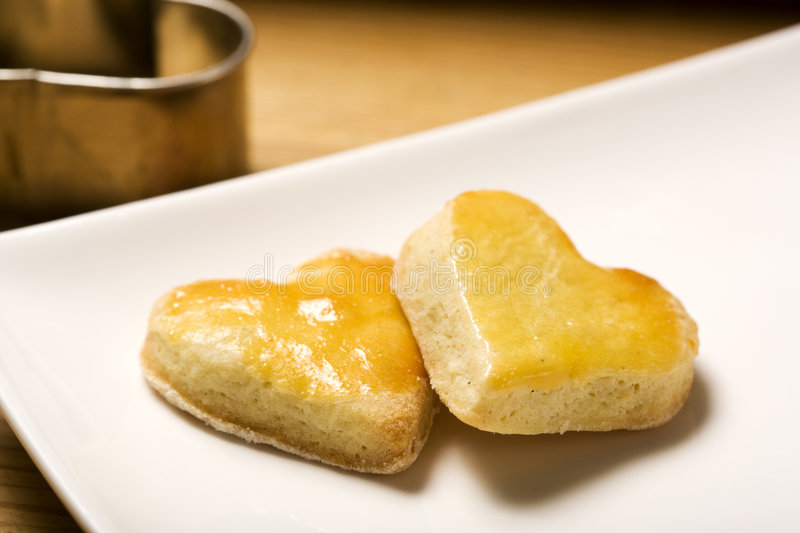 Heart shaped cookies royalty free stock images