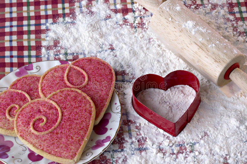 Download Heart Shaped Cookies And Cutter Stock Photo - Image: 29681934