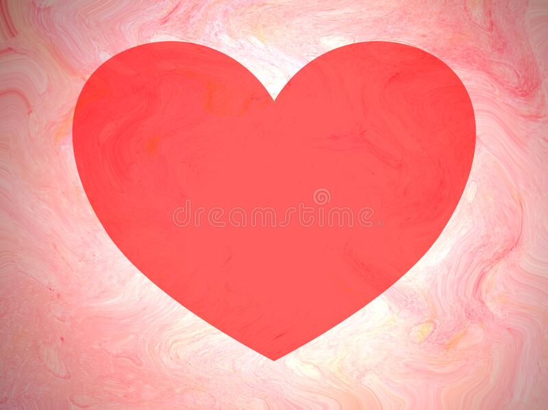 Heart shaped copy space on soft peach/pink background stock photos