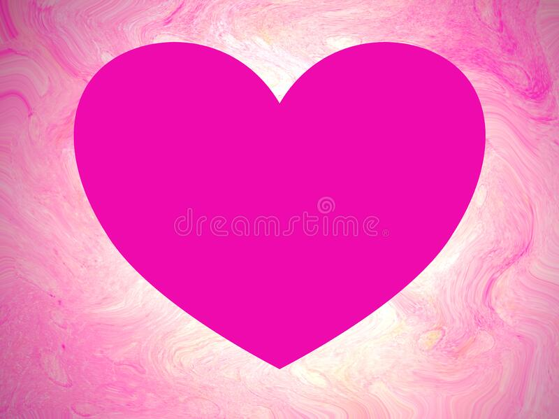 Heart shaped copy space on soft, swirly, illuminated pink background royalty free stock photo