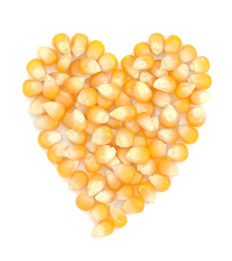Heart Shaped Corn Seeds Stock Photography
