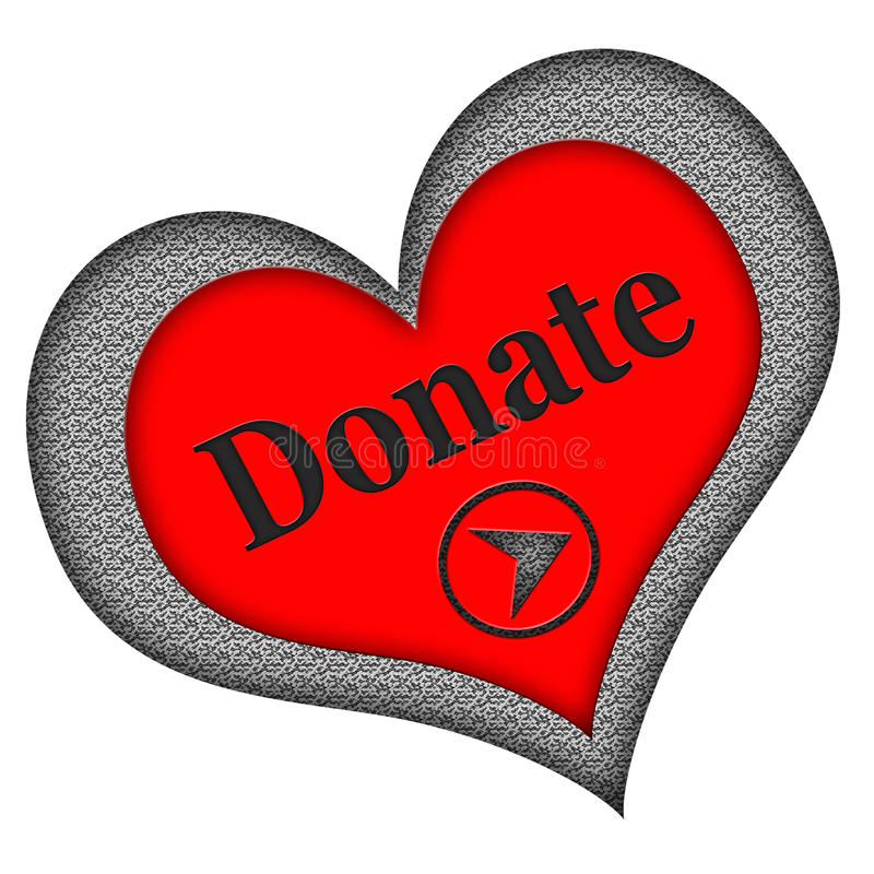 Download Donate Button Heart Shaped stock photo. Image of drive - 29763280