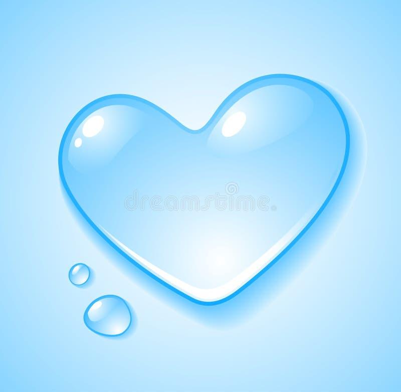 Download Heart shaped droplet stock vector. Image of pure, aqua - 12485178