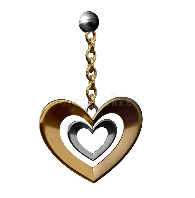 Heart Shaped Earing Royalty Free Stock Image