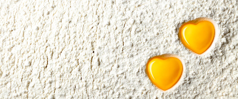 Heart Shaped Egg Yolks stock image