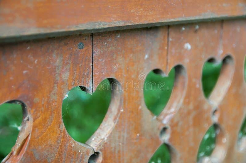 Heart shaped fence royalty free stock photos