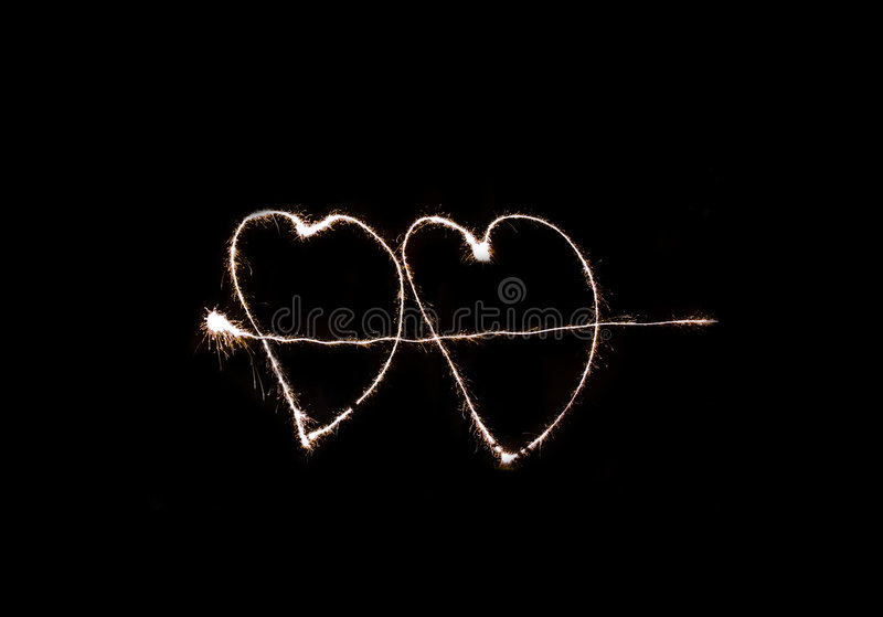 Download Heart-shaped fireworks stock image. Image of party, love - 4423169