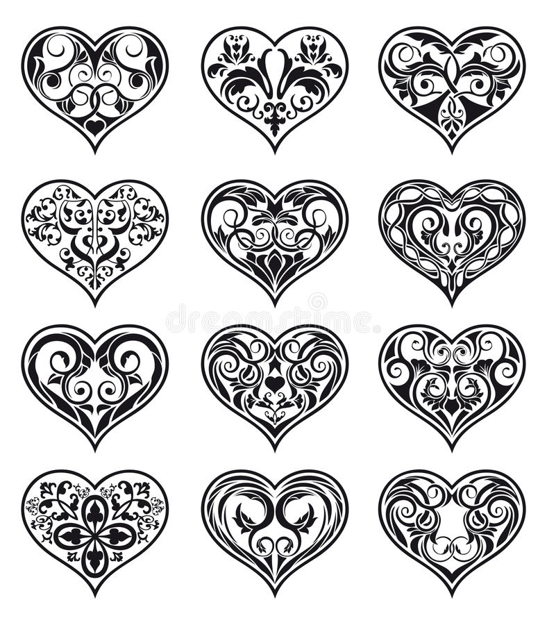 Download Heart-shaped Floral Decorations Stock Vector - Image: 24152658